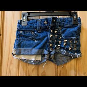 Little girl blue jean shorts